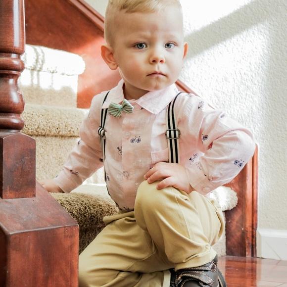 ce8404c8c Matching Sets | Baby Button Down Onesie Pants Suspenders Bowtie ...